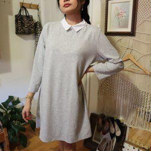 ZARA COTTON COLLARED SHIRT DRESS